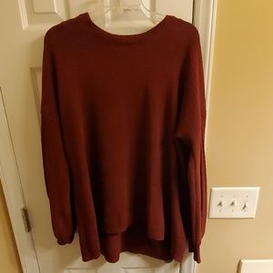 Red maternity sweater- XXL